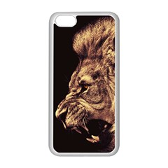 Angry Male Lion Gold Apple Iphone 5c Seamless Case (white)