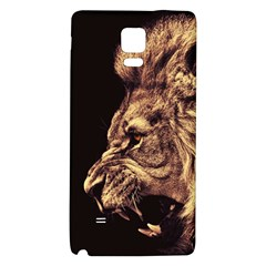 Angry Male Lion Gold Samsung Note 4 Hardshell Back Case