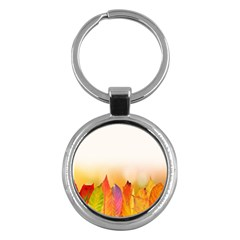 Autumn Leaves Colorful Fall Foliage Key Chains (round)  by Samandel