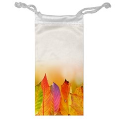 Autumn Leaves Colorful Fall Foliage Jewelry Bag by Samandel