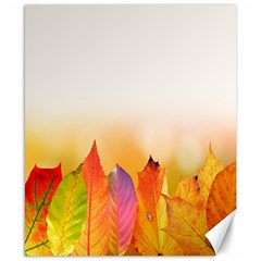 Autumn Leaves Colorful Fall Foliage Canvas 8  X 10