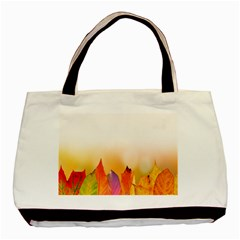 Autumn Leaves Colorful Fall Foliage Basic Tote Bag (two Sides) by Samandel