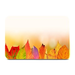 Autumn Leaves Colorful Fall Foliage Plate Mats by Samandel