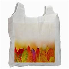Autumn Leaves Colorful Fall Foliage Recycle Bag (one Side) by Samandel