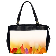 Autumn Leaves Colorful Fall Foliage Oversize Office Handbag (2 Sides)
