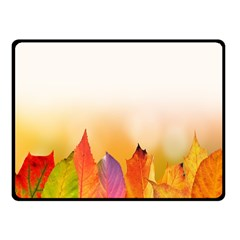 Autumn Leaves Colorful Fall Foliage Fleece Blanket (small) by Samandel