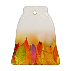 Autumn Leaves Colorful Fall Foliage Ornament (bell) by Samandel