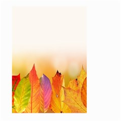 Autumn Leaves Colorful Fall Foliage Large Garden Flag (two Sides) by Samandel