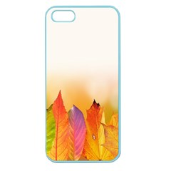 Autumn Leaves Colorful Fall Foliage Apple Seamless Iphone 5 Case (color) by Samandel