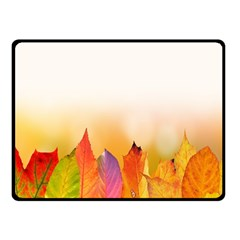 Autumn Leaves Colorful Fall Foliage Double Sided Fleece Blanket (small)  by Samandel
