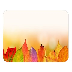 Autumn Leaves Colorful Fall Foliage Double Sided Flano Blanket (large)  by Samandel