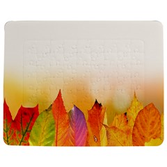 Autumn Leaves Colorful Fall Foliage Jigsaw Puzzle Photo Stand (rectangular) by Samandel