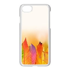 Autumn Leaves Colorful Fall Foliage Apple Iphone 7 Seamless Case (white) by Samandel