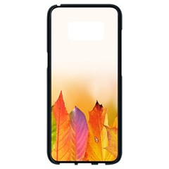 Autumn Leaves Colorful Fall Foliage Samsung Galaxy S8 Black Seamless Case