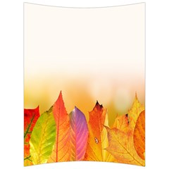 Autumn Leaves Colorful Fall Foliage Back Support Cushion by Samandel