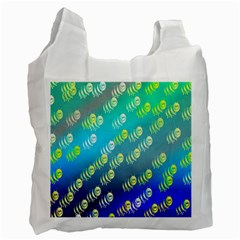 Animal Nature Cartoon Wild Wildlife Wild Life Recycle Bag (one Side)