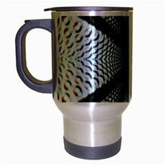 6th Dimension Metal Abstract Obtained Through Mirroring Travel Mug (silver Gray)