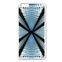 6th Dimension Metal Abstract Obtained Through Mirroring Apple Iphone 6 Plus/6s Plus Enamel White Case