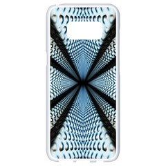 6th Dimension Metal Abstract Obtained Through Mirroring Samsung Galaxy S8 White Seamless Case