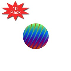Abstract Fractal Multicolored Background 1  Mini Magnet (10 Pack)