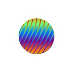 Abstract Fractal Multicolored Background Golf Ball Marker (4 Pack) by Samandel