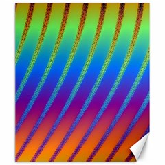 Abstract Fractal Multicolored Background Canvas 20  X 24
