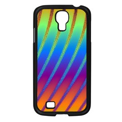 Abstract Fractal Multicolored Background Samsung Galaxy S4 I9500/ I9505 Case (black) by Samandel