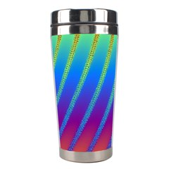Abstract Fractal Multicolored Background Stainless Steel Travel Tumblers by Samandel