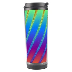 Abstract Fractal Multicolored Background Travel Tumbler