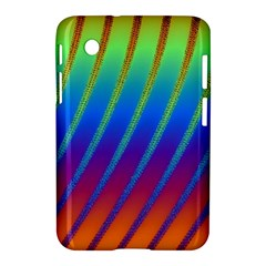 Abstract Fractal Multicolored Background Samsung Galaxy Tab 2 (7 ) P3100 Hardshell Case  by Samandel