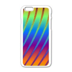 Abstract Fractal Multicolored Background Apple Iphone 6/6s White Enamel Case