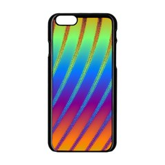 Abstract Fractal Multicolored Background Apple Iphone 6/6s Black Enamel Case by Samandel