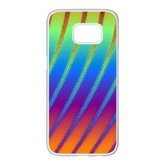 Abstract Fractal Multicolored Background Samsung Galaxy S7 Edge White Seamless Case