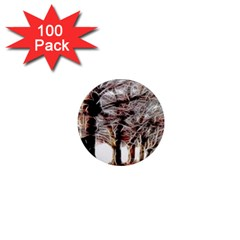 Autumn Fractal Forest Background 1  Mini Magnets (100 Pack)