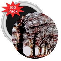 Autumn Fractal Forest Background 3  Magnets (100 Pack) by Samandel