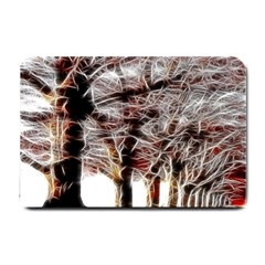 Autumn Fractal Forest Background Small Doormat  by Samandel