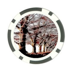 Autumn Fractal Forest Background Poker Chip Card Guard (10 Pack) by Samandel