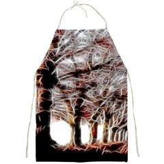 Autumn Fractal Forest Background Full Print Aprons by Samandel