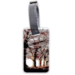 Autumn Fractal Forest Background Luggage Tags (one Side)  by Samandel