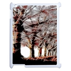 Autumn Fractal Forest Background Apple Ipad 2 Case (white)