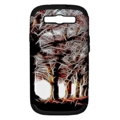 Autumn Fractal Forest Background Samsung Galaxy S Iii Hardshell Case (pc+silicone) by Samandel