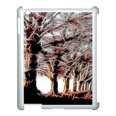 Autumn Fractal Forest Background Apple Ipad 3/4 Case (white)