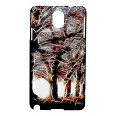 Autumn Fractal Forest Background Samsung Galaxy Note 3 N9005 Hardshell Case by Samandel