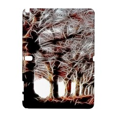 Autumn Fractal Forest Background Samsung Galaxy Note 10 1 (p600) Hardshell Case by Samandel