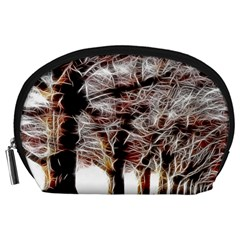 Autumn Fractal Forest Background Accessory Pouch (large) by Samandel