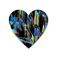 Abstract 3d Blender Colorful Heart Magnet