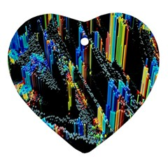 Abstract 3d Blender Colorful Heart Ornament (two Sides) by Samandel