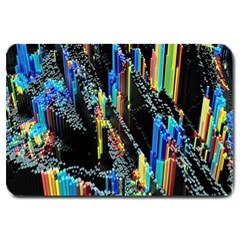 Abstract 3d Blender Colorful Large Doormat  by Samandel