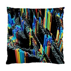 Abstract 3d Blender Colorful Standard Cushion Case (two Sides) by Samandel