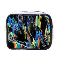 Abstract 3d Blender Colorful Mini Toiletries Bag (one Side) by Samandel